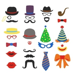Birthday party photo booth props - glasses vector