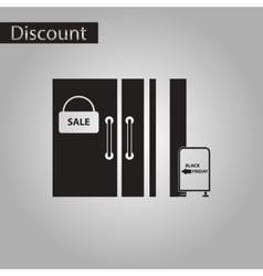 Black and white style icon wardrobe sale discounts vector