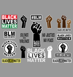 black lives matter graphic design elements vector image