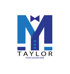blue taylor logo vector image