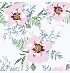 blush pink bouquets on white background vector image
