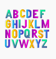 bold bright condensed gradient grotesque vector image