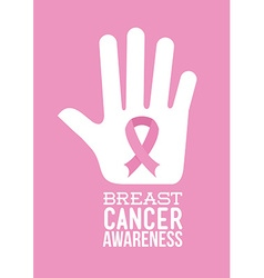 breast cancer awareness design vector image