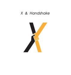 Creative x letter icon abstract logo design vector
