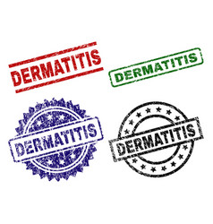Damaged textured dermatitis stamp seals vector