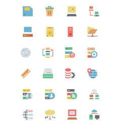 Database and Server Colored Icons 2 vector image vector image