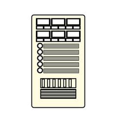 database server storage vector image