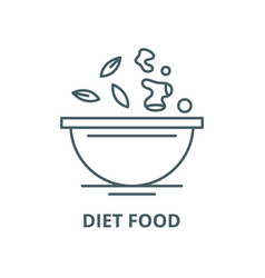 diet food line icon linear concept vector image