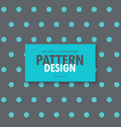 Elegant gray background with blue polka dots vector