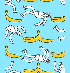 Fall on banana seamless pattern slip on banana vector