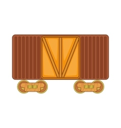 Freight train icon cartoon style vector