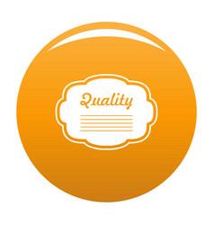 grade label icon orange vector image
