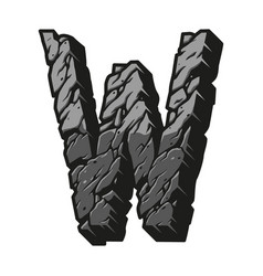 Gray desert design letter w concept vector