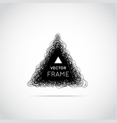 hand drawn triangle vector image
