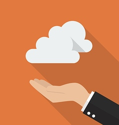 Hand with cloud computing concept vector image
