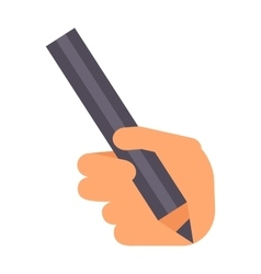 Hand with pencil vector image