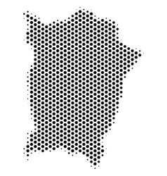 Hex-tile penang island map vector