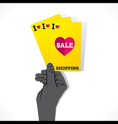 I love shopping sale creative banner design vector image