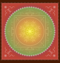 indian oriental ornament of mandala vector image