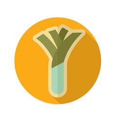 leek flat icon vegetable vector image