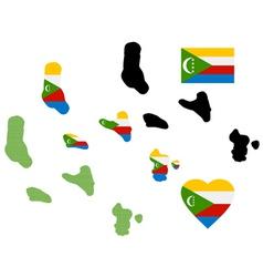 Map of Comoros vector