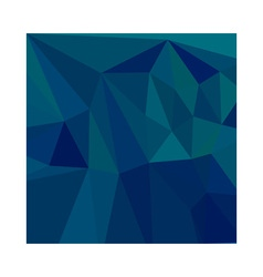 Medium Teal Blue Abstract Low Polygon Background vector
