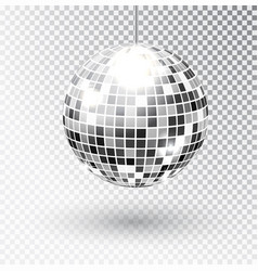 Mirror glitter disco ball vector