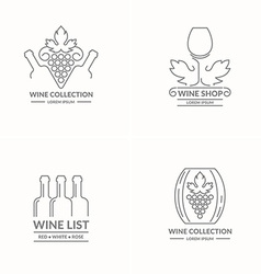 Modern concept of grapes and wine logo vector