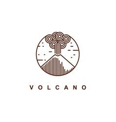 mountain eruption logo design template vector image