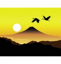 Mt Fujiyama vector