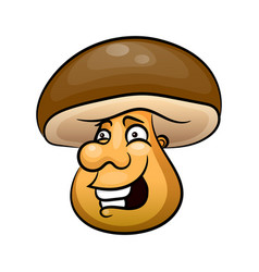 mushroom icon vegetable vector image