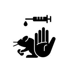 no hamster testing black glyph icon vector image