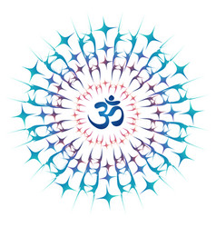 Ohm mandala or sri chakra energy generator vector