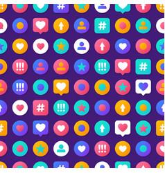 pattern social media vector image