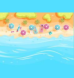 People swim and sunbathe vector
