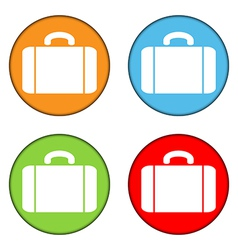Portfolio button set vector image