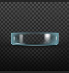 realistic empty medicine glass petri dish vector image