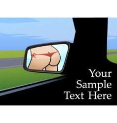 rearview mirror vector image