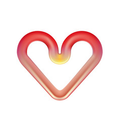 Red heart red-hot heating element infrared oven vector