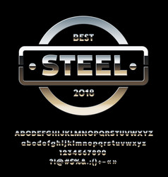 Reflective metal emblem best steel vector