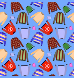 seamless pattern of jumper isolated on vector image