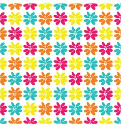 seamless pattern with a lot of bright flowers vector image