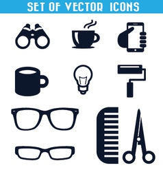Set icons 3 vector