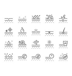 skin line icon set vector image