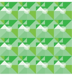 Square green geometrical abstract pattern vector
