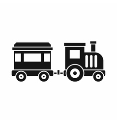 Toy train icon simple style vector
