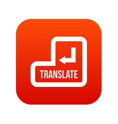 Translate button icon digital red vector