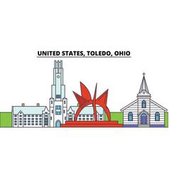 United states toledo ohio city skyline vector