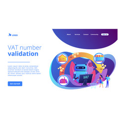 Value added tax system concept landing page vector