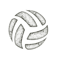 Volleyball grunge dots silhouette vector